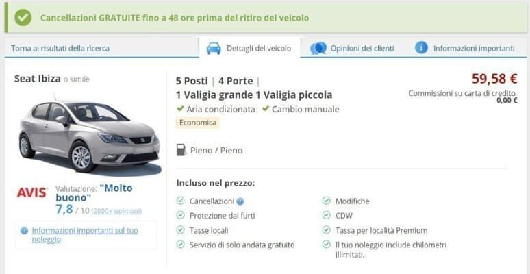 informazioni utili sul noleggio auto