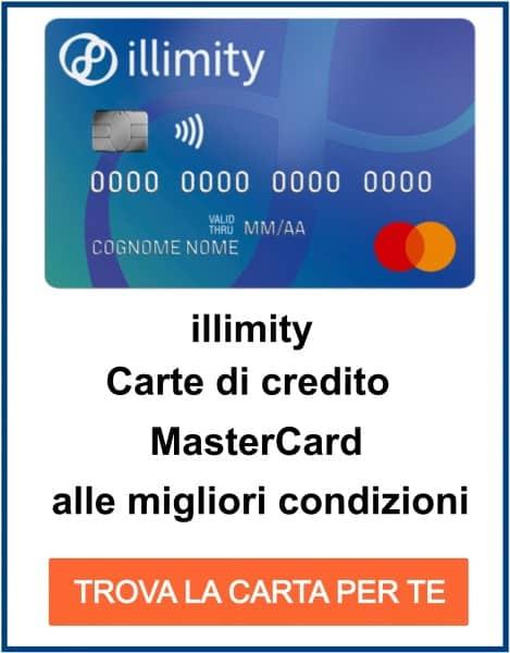 carta di credito gratuita Visa e MasterCard